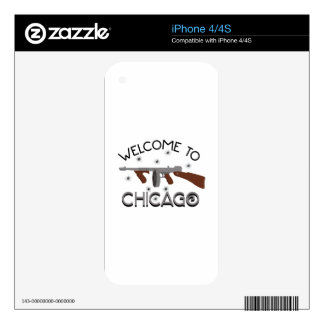 Welcome To Chicago Decals For iPhone 4S