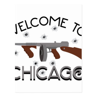 Welcome To Chicago Postcard