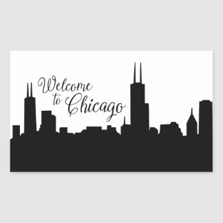 Welcome to Chicago Sticker large