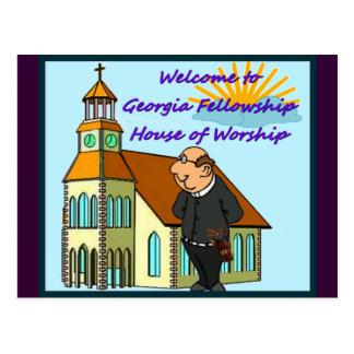 Welcome to Church in Georgia. DUCK!!! Postcard