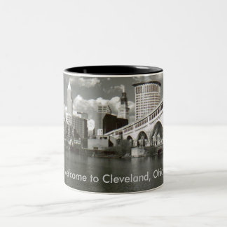 Welcome to Cleveland, Ohio! Two-Tone Coffee Mug