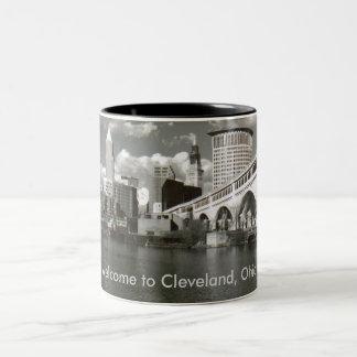 Welcome to Cleveland, Ohio! Two-Tone Coffee Mug