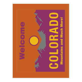 Welcome to Colorado - USA Road Sign Postcard
