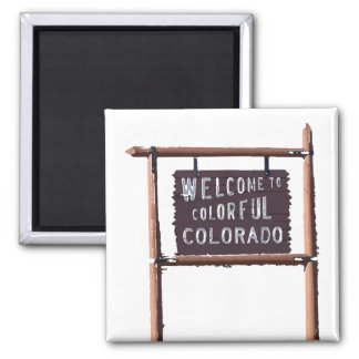 welcome to colorful colorado 2 inch square magnet