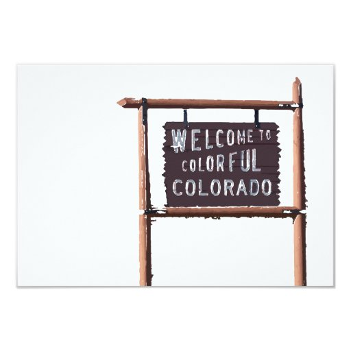 "welcome to colorful colorado 3.5"" x 5"" invitation card"