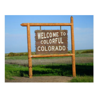 welcome to Colorful Colorado Post Card