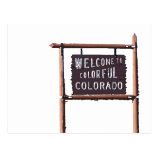 welcome to colorful colorado postcard