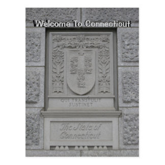 Welcome To Connecticut Postcard