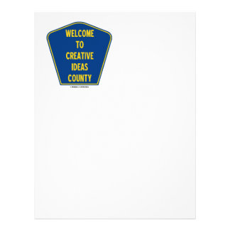 Welcome To Creative Ideas County (Sign Humor) Letterhead