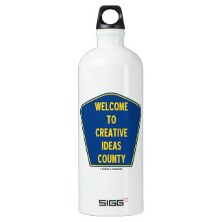 Welcome To Creative Ideas County (Sign Humor) SIGG Traveler 1.0L Water Bottle