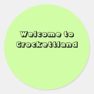 Welcome to Crockettland Classic Round Sticker