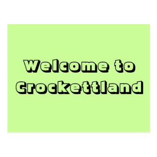 Welcome to Crockettland Postcard