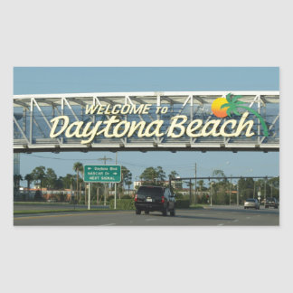 Welcome to Daytona Beach Rectangular Sticker