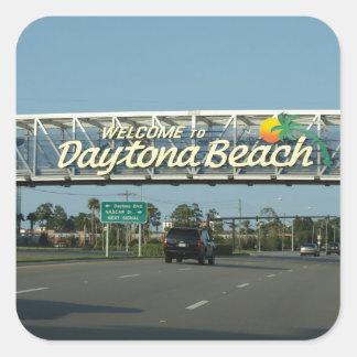 Welcome to Daytona Beach Square Sticker