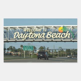 Welcome to Daytona Beach Rectangular Sticker