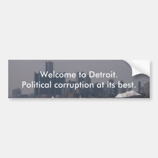 Welcome to Detroit Car Bumper Sticker