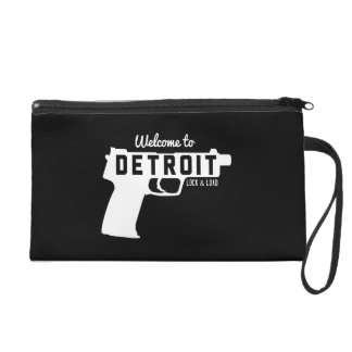Welcome to Detroit Lock & Load Wristlet Purse