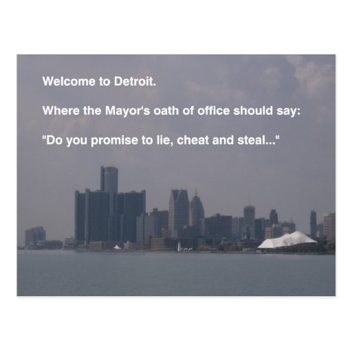 Welcome to Detroit Postcard