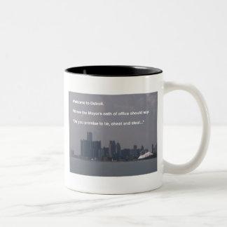 Welcome to Detroit Two-Tone Coffee Mug