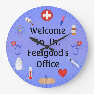 Welcome To Doctor's Office Customizable Clock