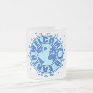 WELCOME_TO_EARTH FROSTED GLASS COFFEE MUG