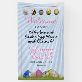 Welcome to Easter Egg Hunt and Brunch Banner