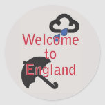 Welcome to England! Round Sticker
