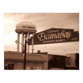 Welcome To Escanaba Post Cards
