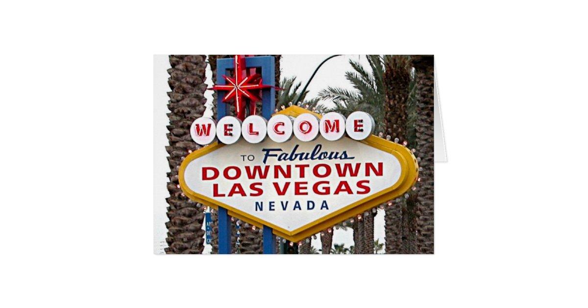 welcome to fabulous downtown las vegas card zazzle