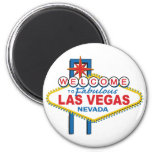 Welcome to Fabulous Las Vegas 2 Inch Round Magnet