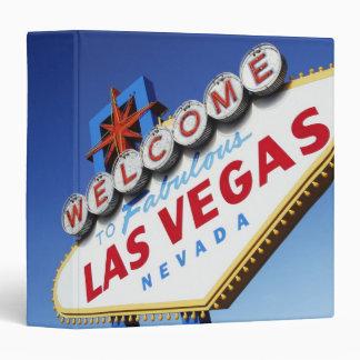 Welcome To Fabulous Las Vegas 3 Ring Binder