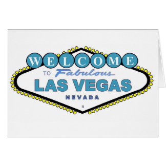 Welcome to Fabulous Las Vegas Announcement Card