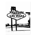 Welcome to Fabulous Las Vegas B&W Vector Graphic Postcards