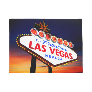 Welcome to Fabulous Las Vegas Beautiful Sunset Doormat