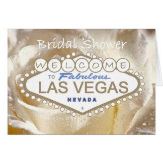 Welcome to Fabulous Las Vegas Bridal Shower Card