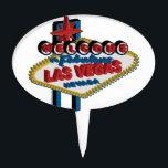 "Welcome to Fabulous Las Vegas Cake Topper<br><div class=""desc"">Retro Welcome Las Vegas Sign</div>"