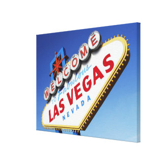 Welcome To Fabulous Las Vegas Stretched Canvas Prints