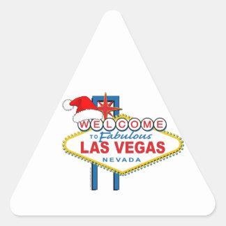 Welcome to Fabulous Las Vegas Christmas Triangle Sticker