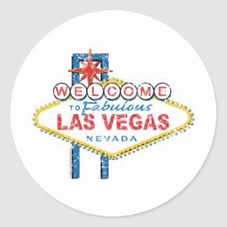 Welcome to Fabulous Las Vegas Classic Round Sticker