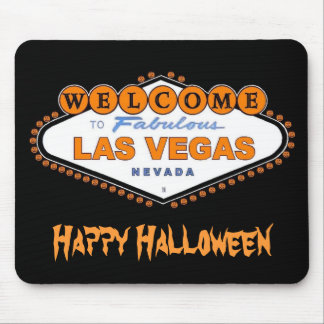 "Welcome to Fabulous Las Vegas ""Happy Halloween"" Mo Mouse Pad"