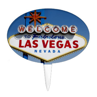 Welcome To Fabulous Las Vegas Historic Sign Cake Topper