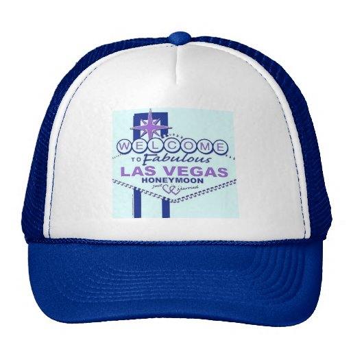 Welcome to Fabulous Las  Vegas Honeymoon Trucker Hat