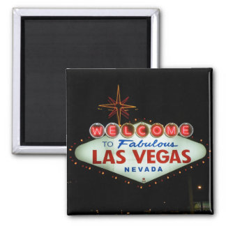 Welcome to Fabulous Las Vegas - Nevada 2 Inch Square Magnet