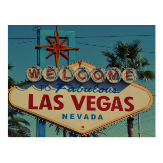 Welcome to Fabulous Las Vegas Nevada postcard