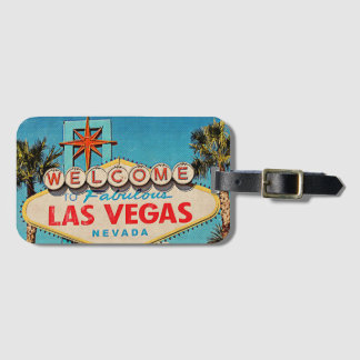 Welcome to Fabulous Las Vegas NEVADA Retro Photo Luggage Tag
