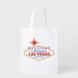 Welcome to Fabulous Las Vegas, Nevada Reusable Grocery Bag
