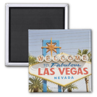 Welcome to fabulous las vegas nevada sign 2 inch square magnet