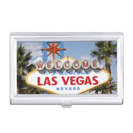 Gambling business card holders cases zazzle welcome to fabulous las vegas nevada sign business card holder reheart Images