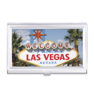 Las vegas nevada business card holders cases zazzle welcome to fabulous las vegas nevada sign business card holder reheart Image collections