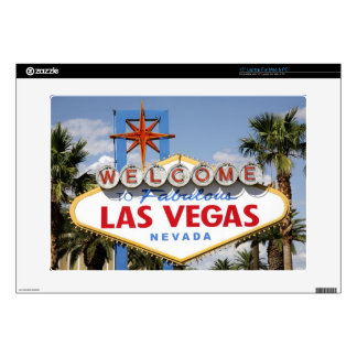 """Welcome to Fabulous Las Vegas Nevada Sign Decals For 15"""" Laptops"""